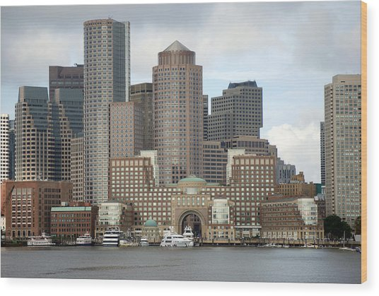 From Boston Harbor Wood Print