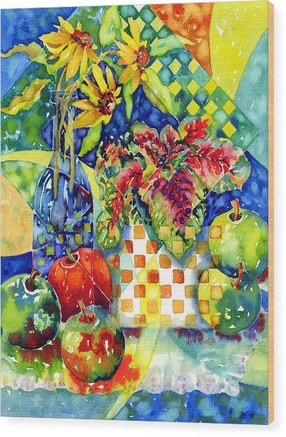 Fruit And Coleus Wood Print