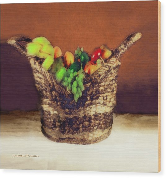Fruit  Art 11 Wood Print