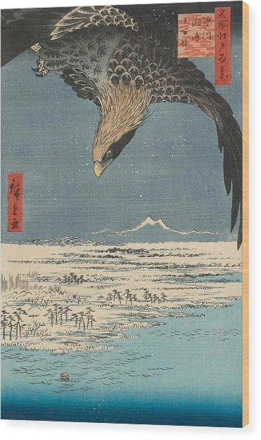 Fukagawa Susaki And Jumantsubo Wood Print