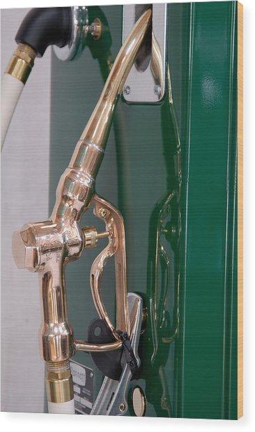 Gas Pump Handle Wood Print by David Campione
