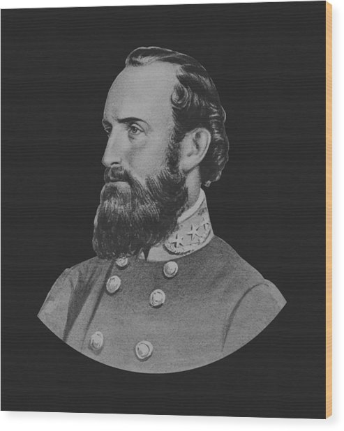 General Stonewall Jackson - Five Wood Print