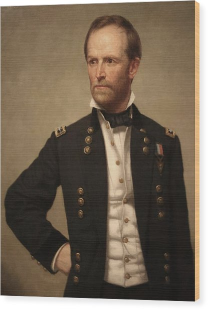 General William Tecumseh Sherman Wood Print