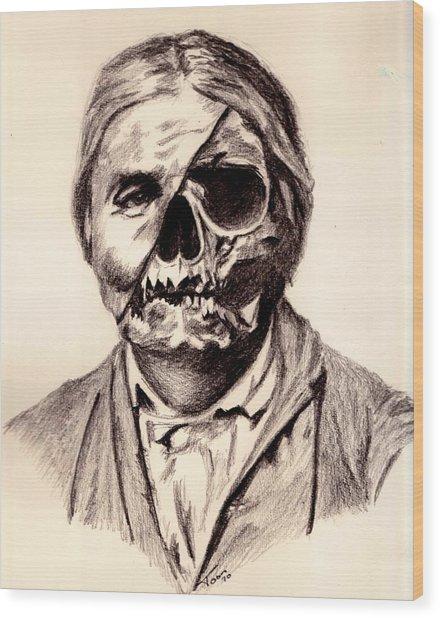 Geronimo's Skull Wood Print