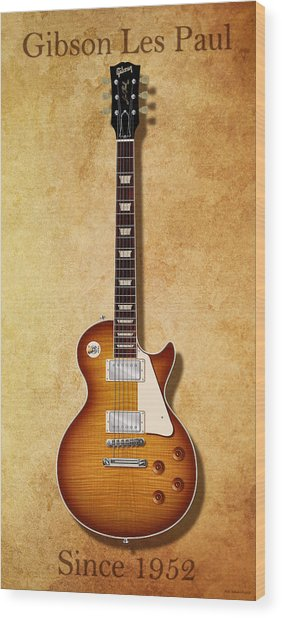 Gibson Les Paul Since 1952 Wood Print