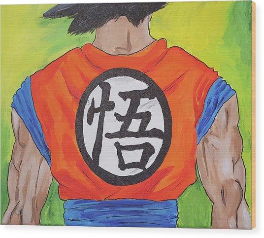 Goku Kanji Wood Print