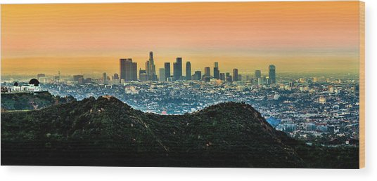 Golden California Sunrise Wood Print