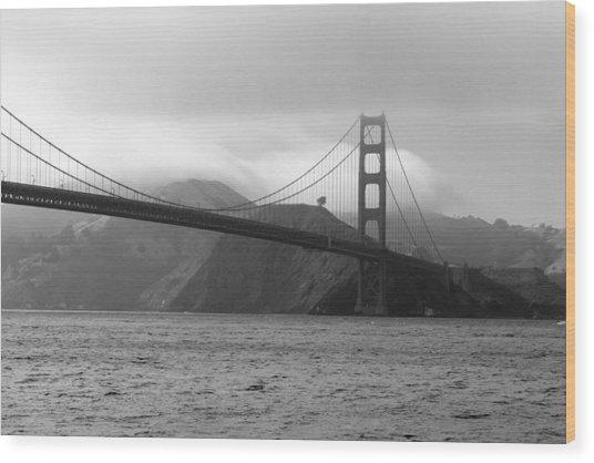 Golden Gate Wood Print by Ofelia  Arreola