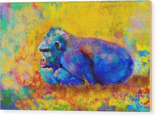 Gorilla Gorilla Wood Print