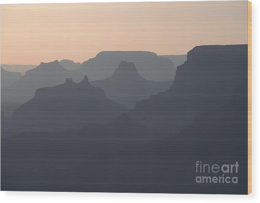 Grand Canyon Pastel Wood Print by Stan and Anne Foster