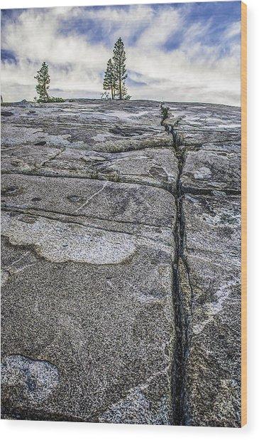 Granite Expanse Wood Print