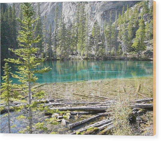 Grassi Lakes Wood Print