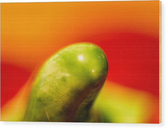Wood Print featuring the photograph Green Red Liquid Clay by Willard Killough III