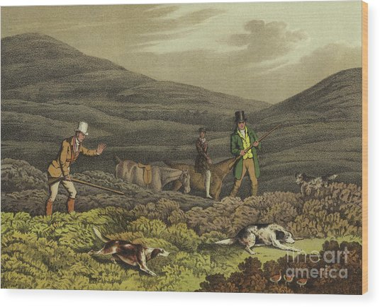 Grouse Shooting Wood Print