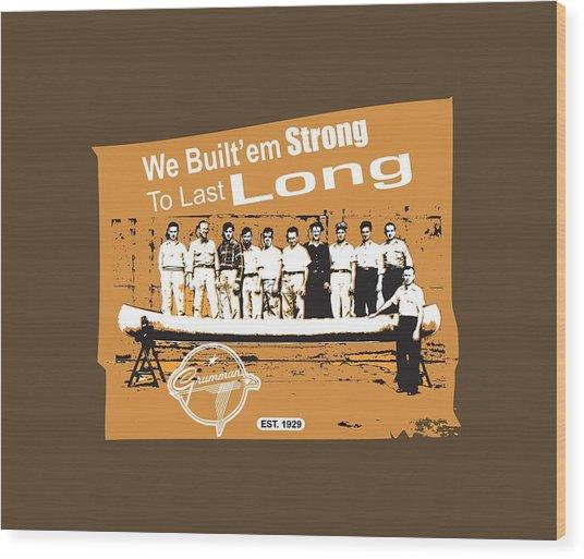 Grumman Canoe Wood Print