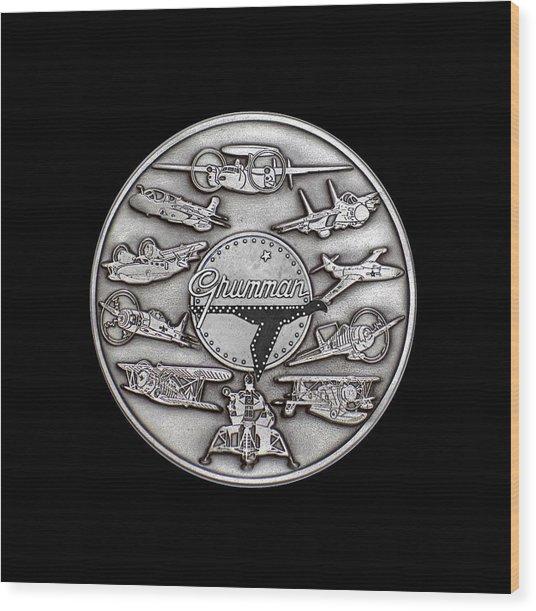 Grumman Coin Wood Print