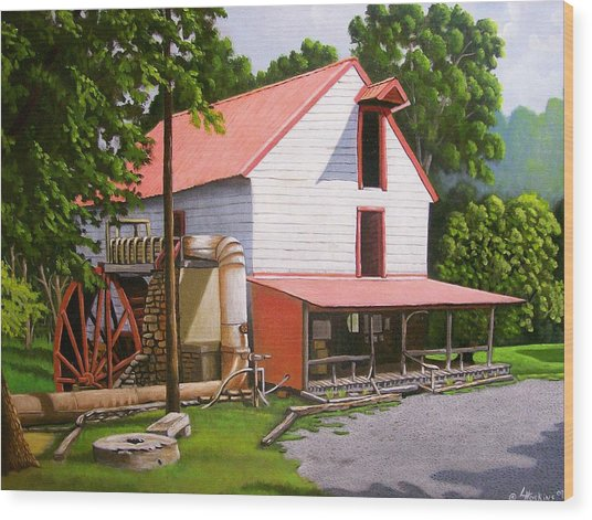 Guilford Mill Wood Print by Larry Hoskins