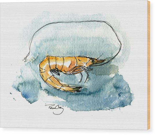 Gulf Shrimp Wood Print