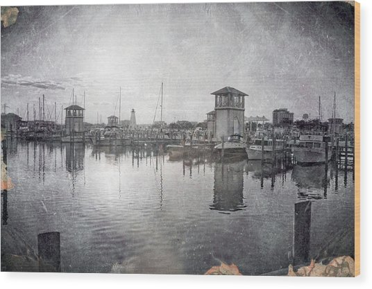 Gulfport Harbor  Wood Print