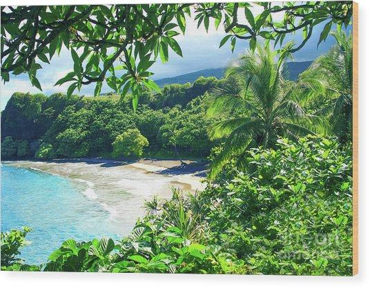 Wood Print featuring the photograph Hamoa Beach Hana Maui Hawaii by Sharon Mau