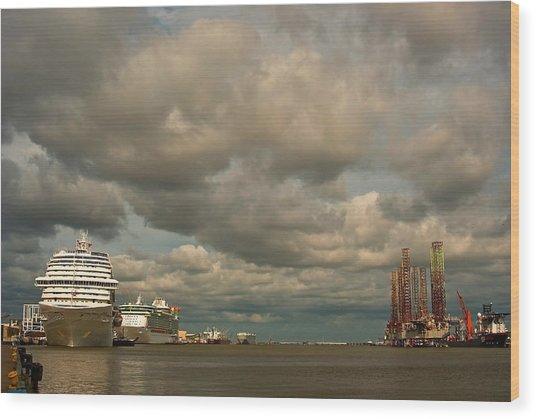 Harbor Storm Wood Print