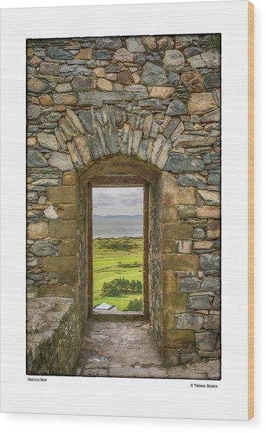 Harlech View Wood Print
