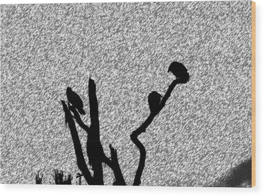 Harsh Weather Wood Print by Juozas Mazonas