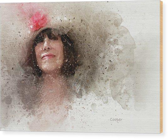 Fille Au Chapeau Wood Print
