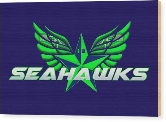Hawks Wings Wood Print