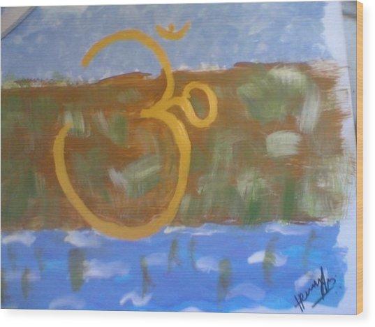 Hds-universal Om Wood Print by Hema V Gopaluni