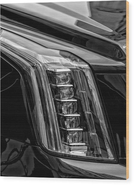 Head Light Wood Print by Robert Ullmann