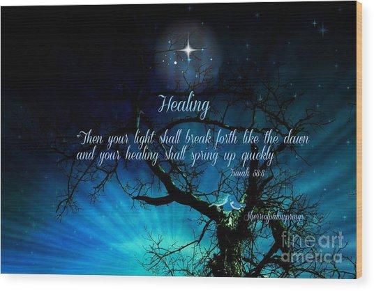 Healing Art By Sherri Of Palm Springs Wood Print