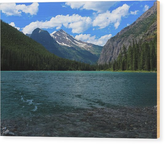 Heavan's Peak From Avalanche Lake Wood Print