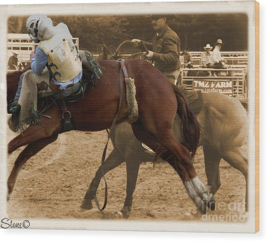 Helluva Rodeo-the Ride 6 Wood Print