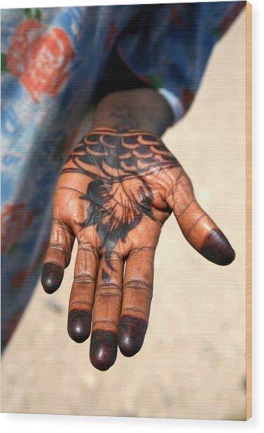 Henna Hand Wood Print