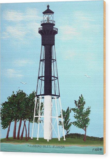 Hillsboro Inlet Lighthouse Wood Print by Frederic Kohli