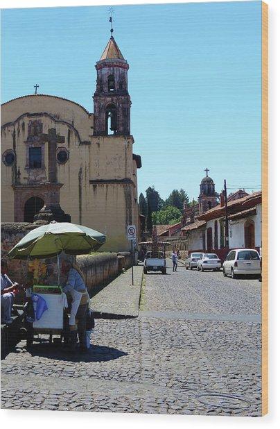 Historic Patzcuaro Wood Print