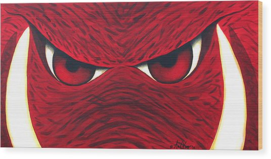 Hog Eyes 2 Wood Print by Amy Parker
