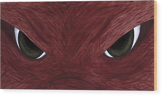 Hog Eyes Wood Print by Amy Parker
