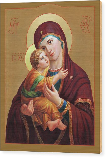 Holy Mother Of God - Blessed Virgin Mary Wood Print