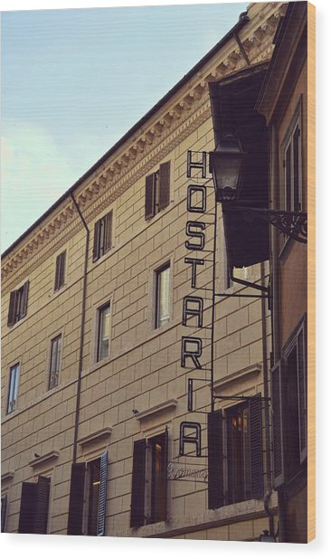 Roma Hostaria Wood Print by JAMART Photography