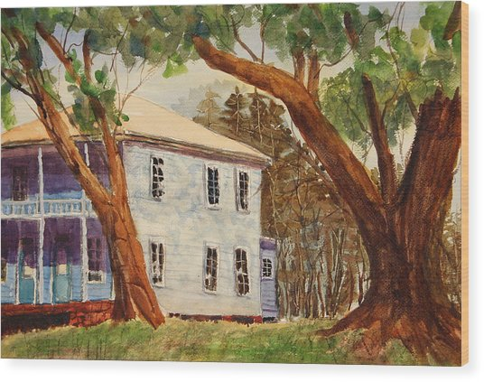 House On Front Street Wood Print by Barry Jones