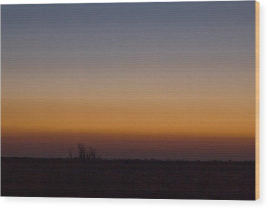 Howie Idaho Sunrise Wood Print by John Higby