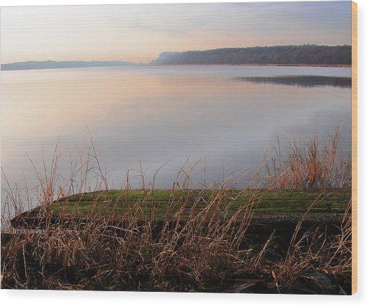 Hudson River Vista Wood Print