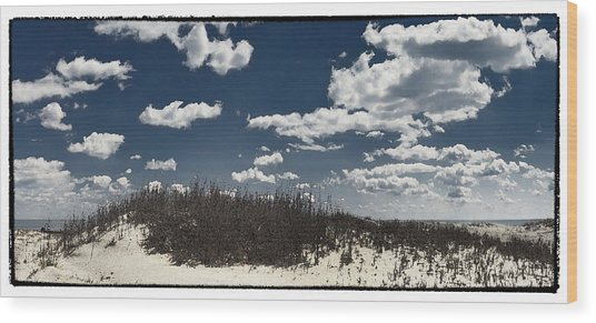 Hunting Island Beach Wood Print by Robert Fawcett