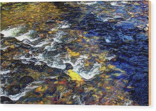 Hyalite Creek Wood Print
