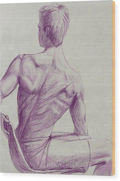 Ian's Back Wood Print by Khaila Derrington