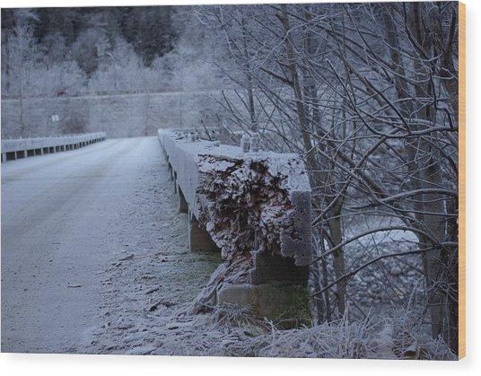 Ice Bridge Wood Print