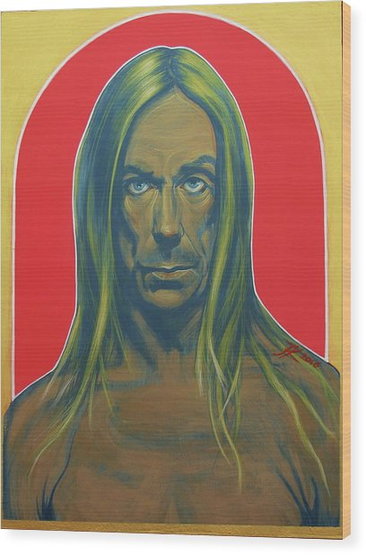 Iggy Pop Wood Print