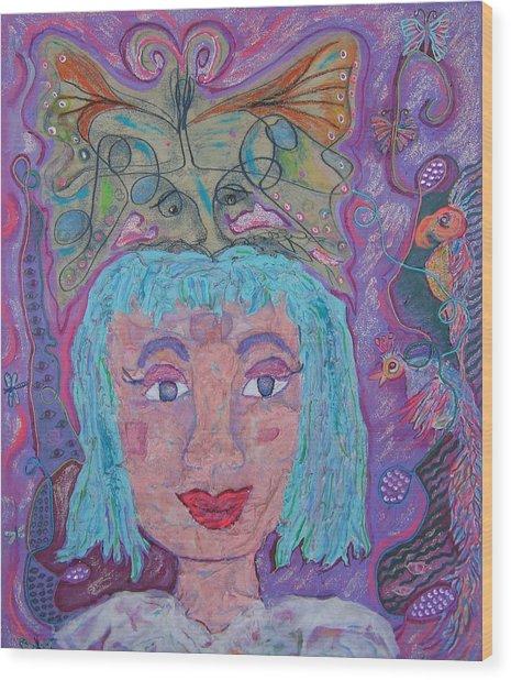 In Her Eyes Wood Print by Marlene Robbins